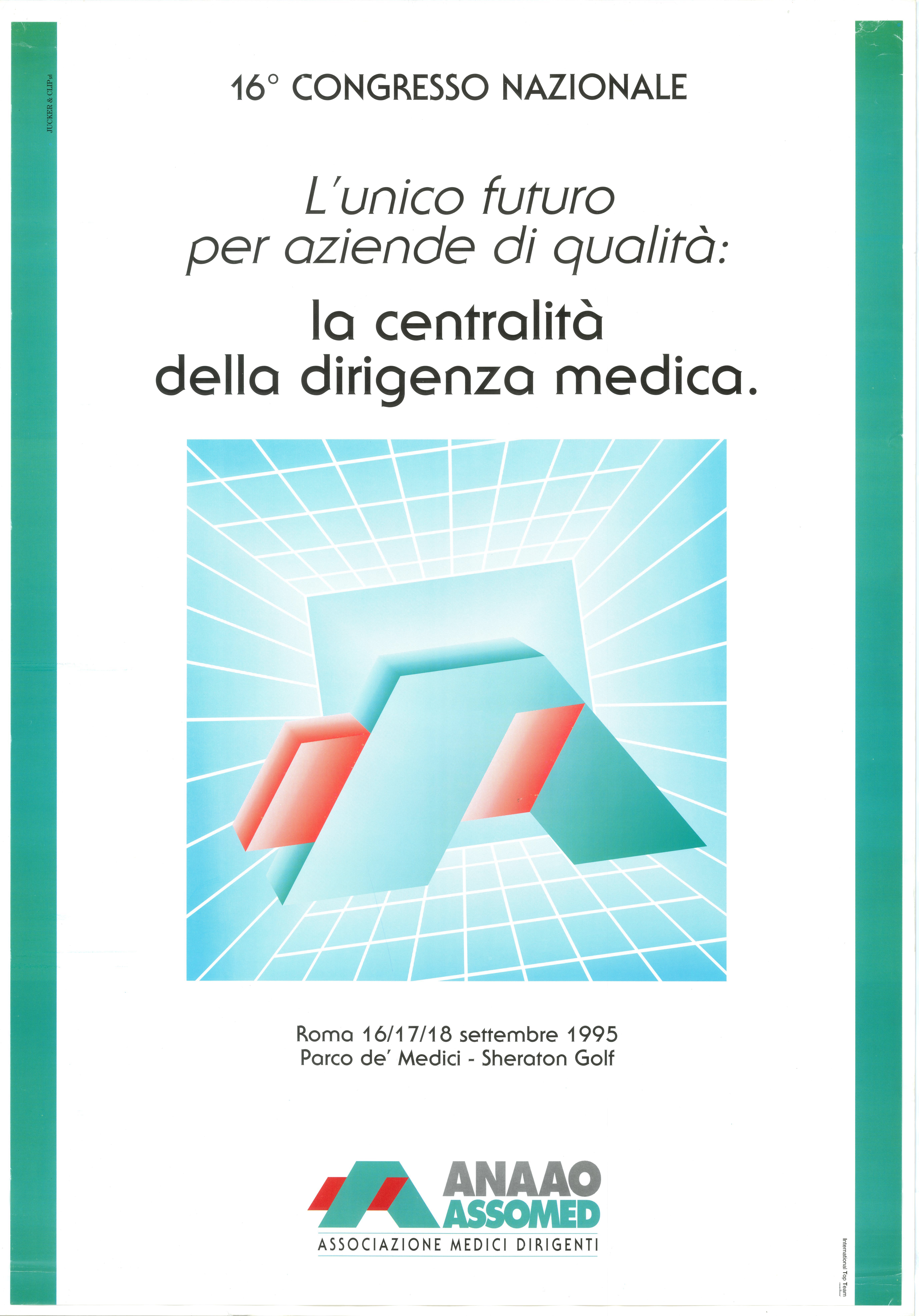 16° Congresso Nazionale Anaao Assomed Roma 16 17 18 giugno 1995